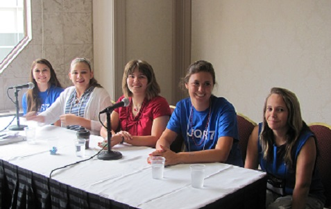 Junior Quotarians from L to R: Jordan, Hanna, Margie, McKenzie, and Emma at convention.  Photo provided by Quota International Region 1 Director Valerie Hall