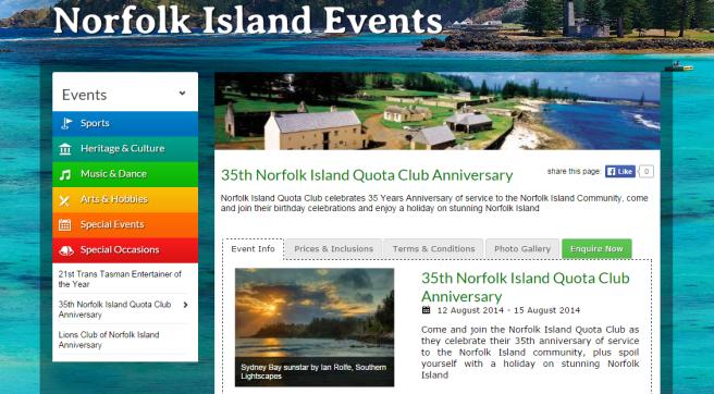 Norfolk Island Events