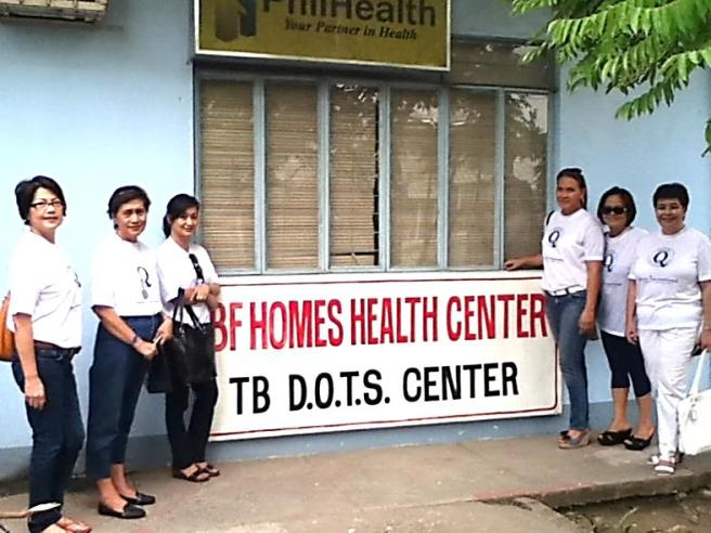 BF Homes Health Center in Parañaque, Philippines where a Quotarian service project included restoring bathrooms and new toilets.