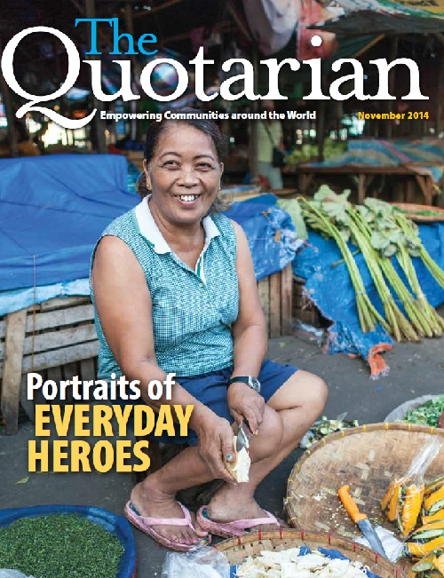 The November issue 2014 of The Quotarian magazine focuses on our everyday heroes.