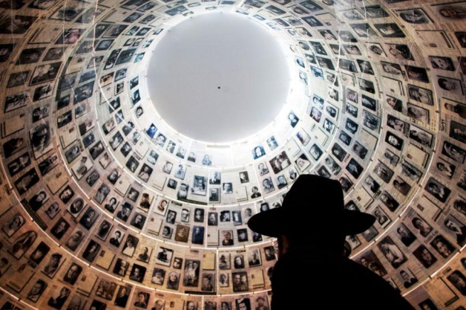 The Hall of Names, Holocaust Museum in Jerusalem, Israel.