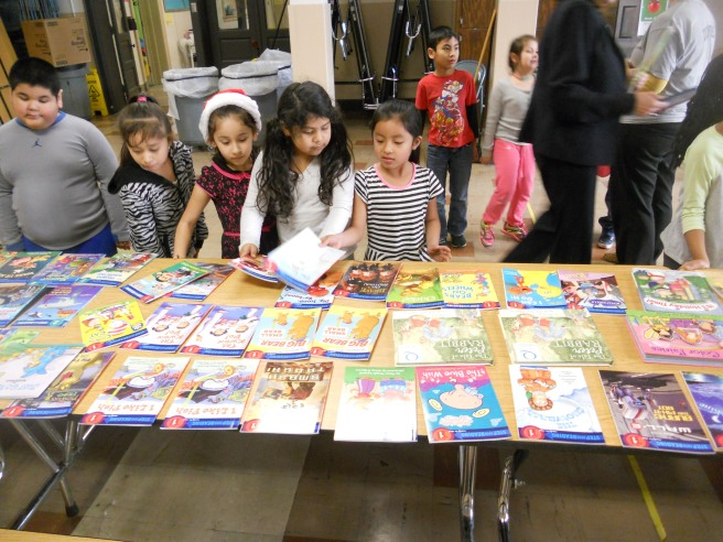 Quotarians in Sioux City, Iowa donated over 200 books to the local elementary school.