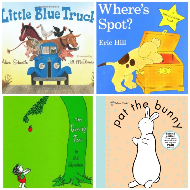"""Little Blue Truck,"" ""Where's Spot,"" ""The Giving Tree,"" and ""Pat the Bunny"" are all on list of best books for speech and language development in young children."
