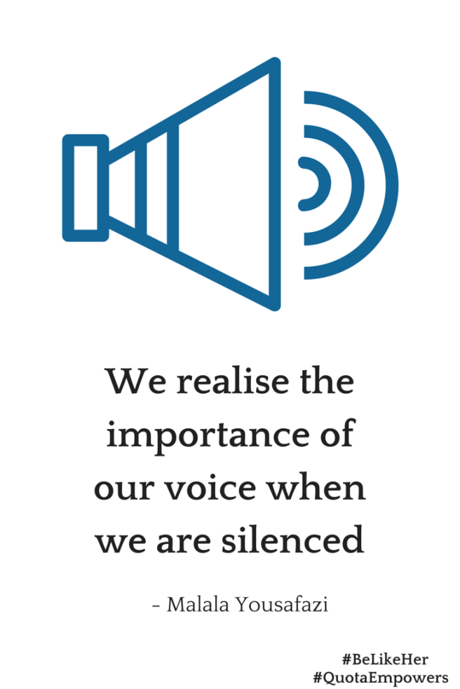 The importance of our voice