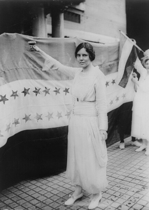 Alice Paul protesting
