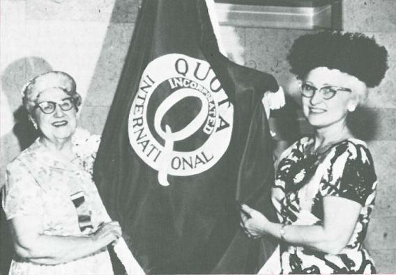 Wanda Frey Joiner and Quota International Flag